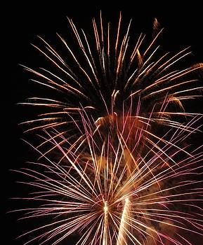 Electric City Fireworks III by Daniel Henning