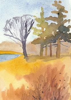 Elegant Pines Watercolor by Christine Camp