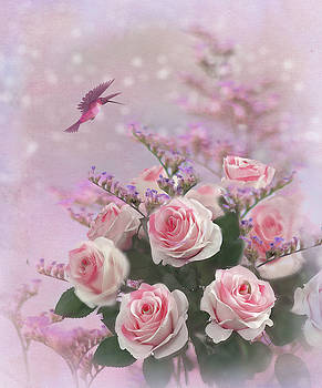 Elegant Roses-1 by Nina Bradica