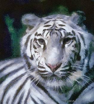 Elegant White Tiger by Elizabeth Coats
