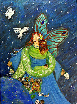Elemental Angel Of Earth by The Art With A Heart By Charlotte Phillips