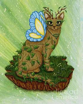 Elemental Earth Fairy Cat by Carrie Hawks