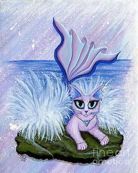 Elemental Water Mermaid Cat by Carrie Hawks