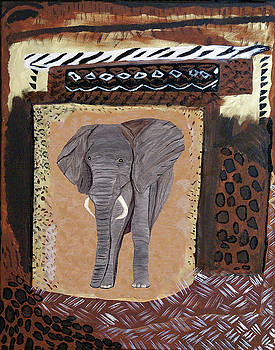 Elephant Abstract by Judy Huck