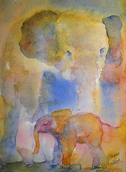 Elephant and Baby by Corynne Hilbert