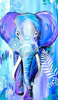 Elephant, Bohemian Style by Cathy Jacobs