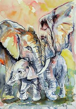 Elephant family by Kovacs Anna Brigitta