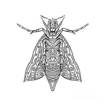 Elephant Hawk Moth Mandala by Aloysius Patrimonio