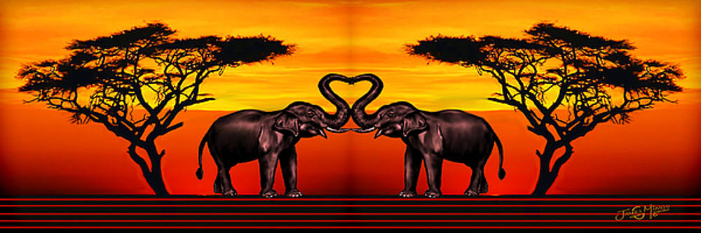 Elephant Love by James  Mingo