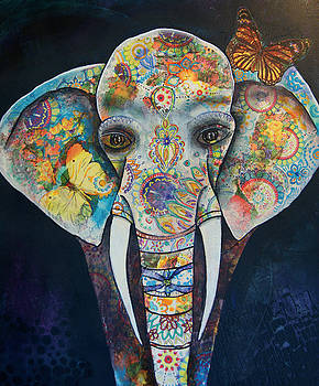 Elephant Mixed Media 2 by Reina Cottier