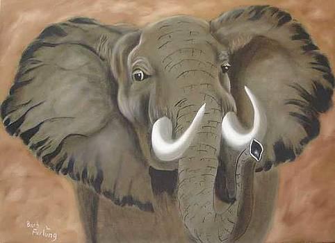Elephant oil painting by Barbara Furlong