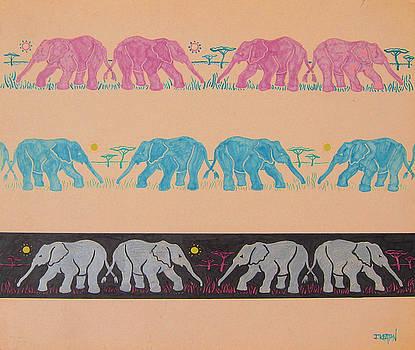 Elephant Pattern by John Keaton