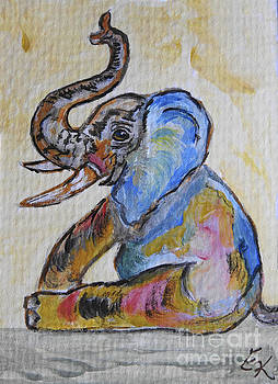 Elephant Play - Blue Baby Too by Ella Kaye Dickey