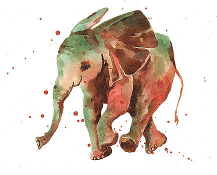 Elephant print by Alison Fennell