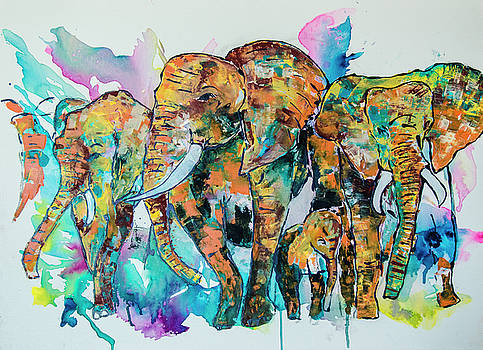 Elephants 3 by Rina Bhabra