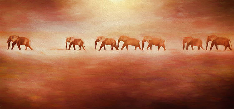 Elephants in a Sand Storm by Cheryl Ramalho