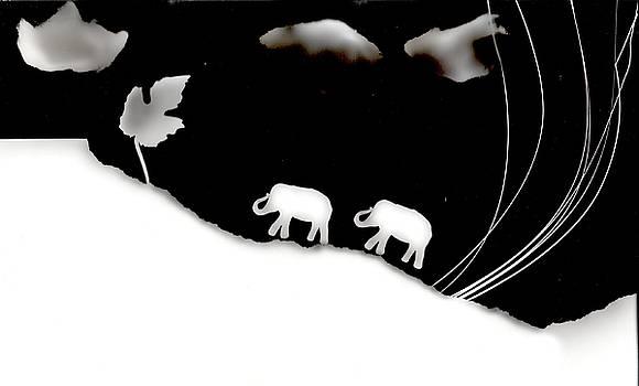 Elephants by Sascha Meyer
