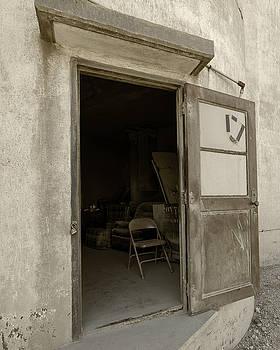 Elevator Door in Hebron Nebraska by Art Whitton