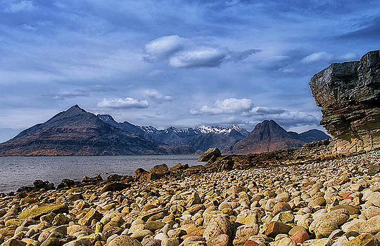 Elgol Beach and the Cuillin Hills by Jacqi Elmslie