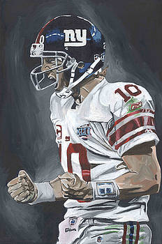 Eli Manning Super Bowl MVP by David Courson
