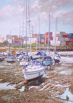 Eling Yacht Southampton Containers by Martin Davey