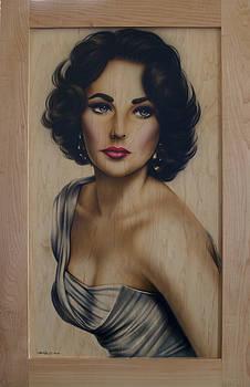 Elizabeth Taylor Cabinet Door by Steve Baier