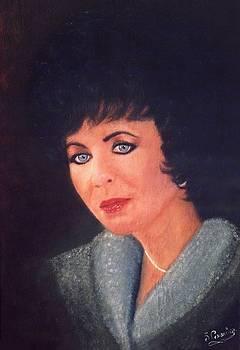 Elizabeth Taylor Portrait by Liam O Conaire