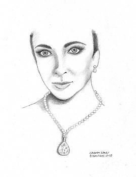 Elizabeth Taylor by Sharon Blanchard