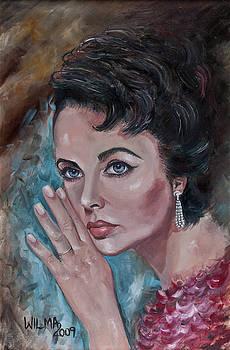 Elizabeth Taylor by Wilma Kleinhans