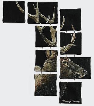 Elk Fragments by Taunya Bruns