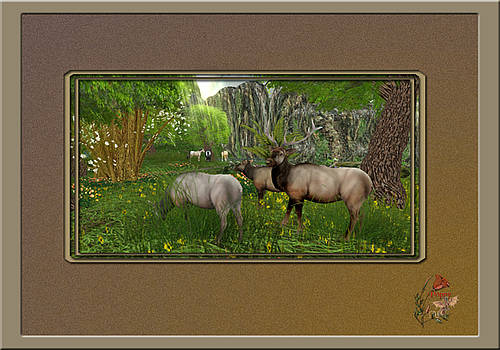 Elk Herd - Second Life by Patricia Whitaker