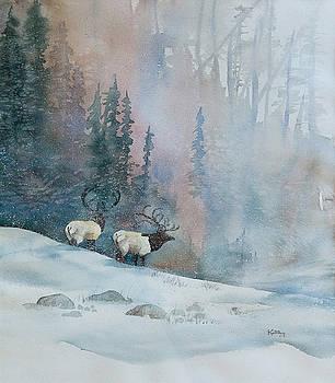 Elk in Winter by Jerry Kelley