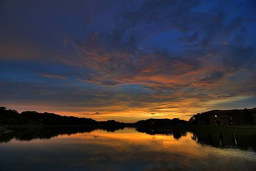 Ellenton Lake Sunset 01 by Jonathan Sabin