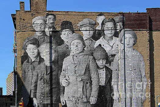Ellis Island Immigrant Children Mural Tribeca 4 by Nishanth Gopinathan