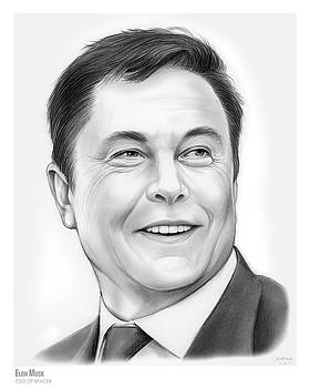 Elon Musk by Greg Joens
