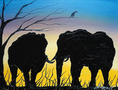 Elphants Of The Congo by Portland Art Creations
