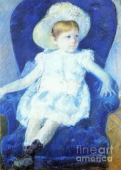 Cassatt - Elsie In A Blue Chair