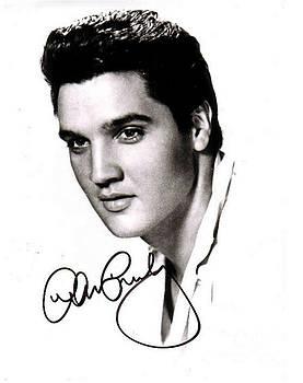 Pd - Elvis Presley Autographed Portrait