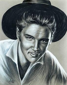 Elvis Presley In Black N White by Anastasis  Anastasi