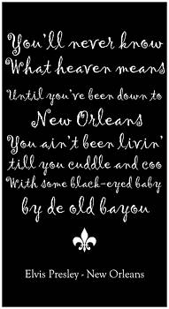 Elvis Presley New Orleans by Southern Tradition