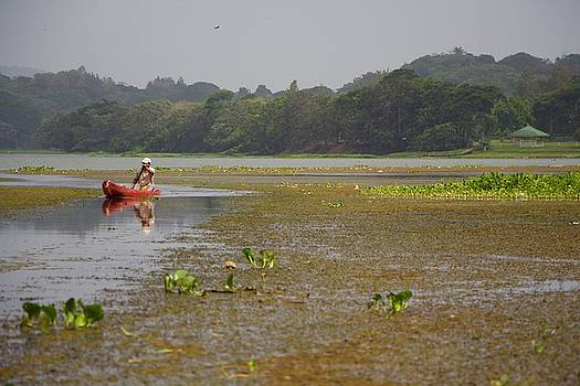 Venetia Featherstone-Witty - Embera Wounaan Tribesman Returns from Fishing in Panama