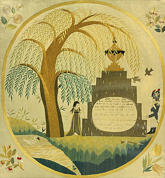 Embroidered Mourning Picture For George Washington by MotionAge Designs