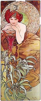 Alphonse Mucha - Emerald
