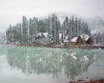 Emerald Lake Lodge by Laurence Dahlmer