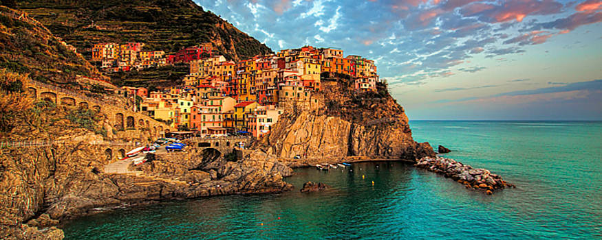 Emerald Sea  Manarola Cinque Terre by Paul James