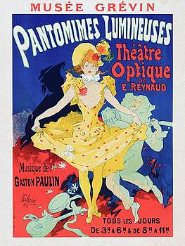 Emile Reynauds animated projection show Pauvre Pierrot 1896 by Vintage Printery