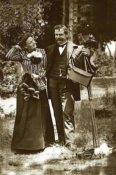California Views Mr Pat Hathaway Archives - Emily Tuttle and her husband C. K. Tuttle with his 4x5 camera 1900