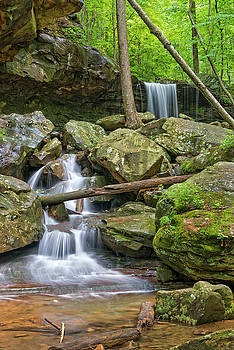 Emory Gap Falls In Frozen Head State Park by Jim Vallee