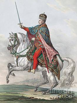Franz Wolf - Emperor Ferdinand I of Austria on Horseback