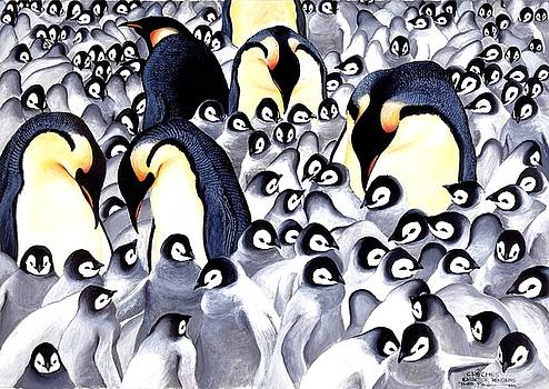 Emperor Penquins by Bob Patterson